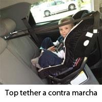 Top Tether en silla a contra marcha