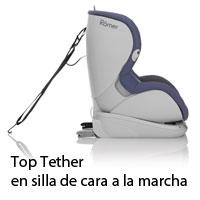 Top Tether en silla de cara a la marcha