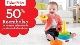 50% de reembolso en productos Fisher-Price
