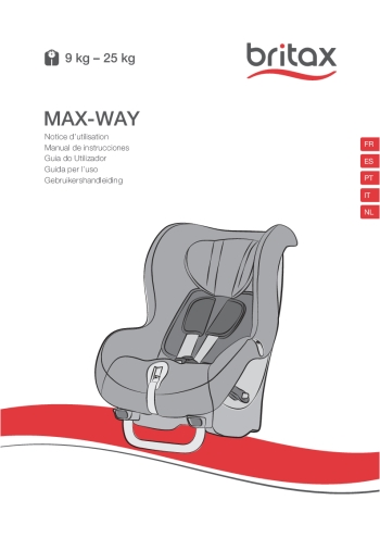 Manual de instrucciones de la Britax Max Way