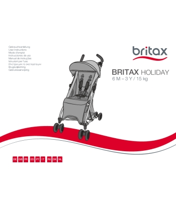 Manual de instrucciones Britax Holiday