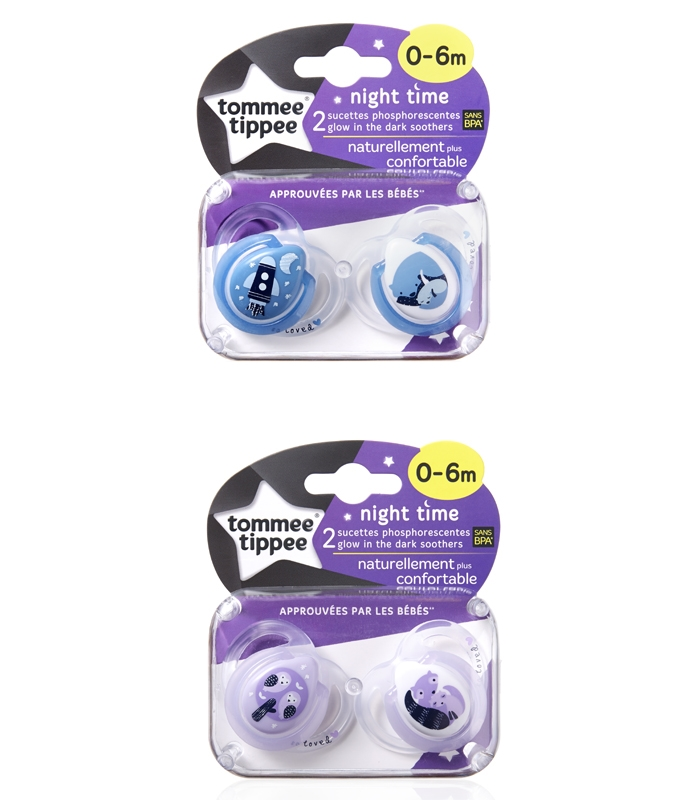 Tommee Tippee Chupetes NOCHE 2X 0-6