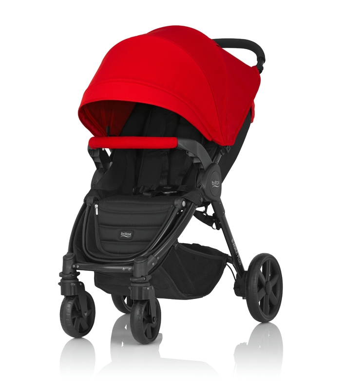 Britax PLUS-BAGILE y BMOTION Pack Flame Red